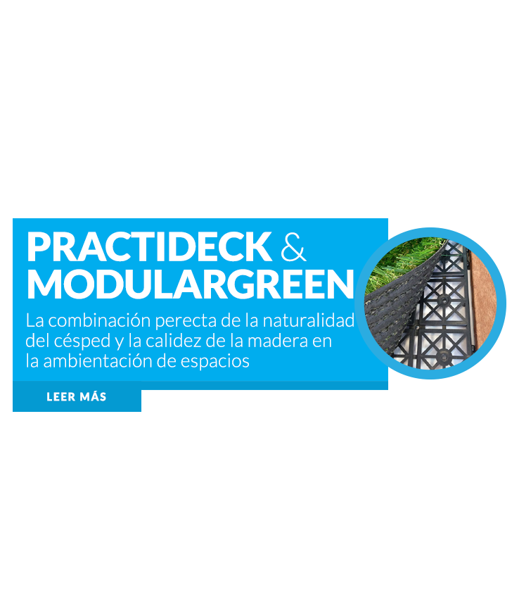 Practideck y Modulargreen